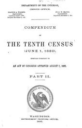 Compendium of the Tenth Census (June 1, 1880)