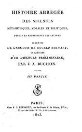 Histoire Abregee des Sciences Metaphysiques, Morales, et Politiques