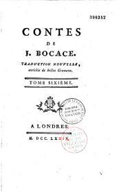Contes de Giovanni Boccaccio, traduction nouvelle (par l'abbé Sabatier de Castres)
