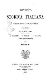 Rivista storica italiana: Volume 3
