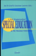 A New Framework of Special Education in the Russian Federation
