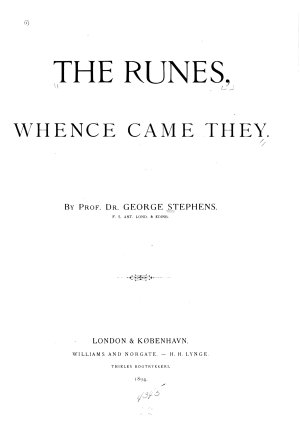 The Runes  Whence Came They