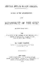 HISTORY OF THE ADMINISTRATION OF THE DEPARTMENT OF THE GULF IN THE YEAR 1862