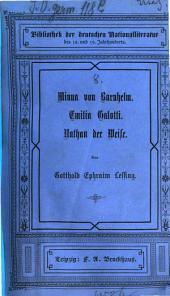Minna von Barnhelm: Emilia Galotti. Nathan der Weise