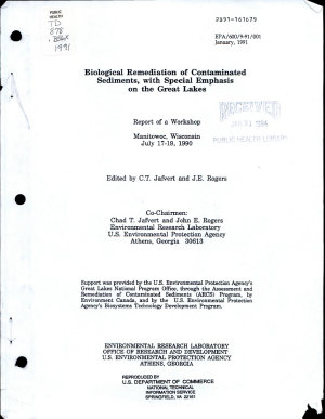 Biological Remediation of Contaminated Sediments with Special Emphasis on the Great Lakes PDF