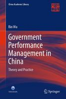 Government Performance Management in China PDF