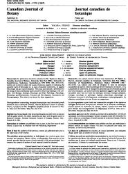 Canadian Journal of Botany PDF