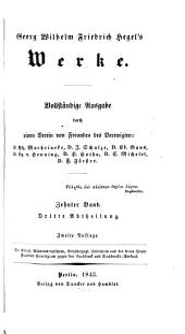 Georg Wilhelm Friedrich Hegel's Werke: Band 10,Ausgabe 3