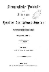 Stenographische Protokolle über die Sitzungen des Hauses der Abgeordneten des österreichischen Reichsrates: Ausgaben 22-49