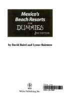 Mexico s Beach Resorts For Dummies PDF