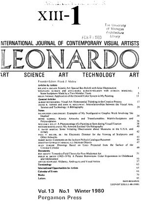 Leonardo   Journal of International Society for the Arts  Sciences and Technology PDF