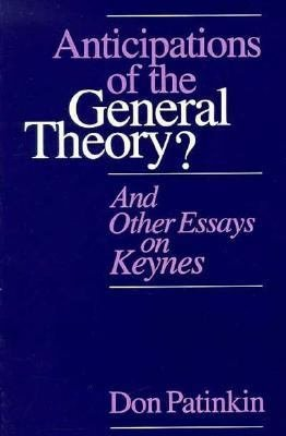 Anticipations of the General Theory