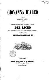 Giovanna d'Arco: drama lirico