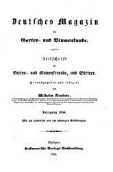 Deutsches Magazin F R Garten Und Blumenkunde