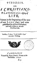 Psuchōdia platonica: or, A platonicall song of the soul, consisting of foure severall poems; viz. Psuchozōia, Psuchathanasia, Antipsuchopannuchia, Antimonopsuchia. Hereto is added a paraphrasticall interpretation of the answer of Apollo consulted by Amelius, about Pltinus soul departed this life. By H.M.