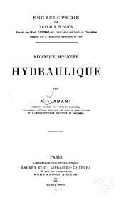 Mécanique appliquée : hydraulique