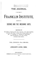 Journal of the Franklin Institute: Volume 139