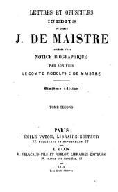 Lettres et opuscules