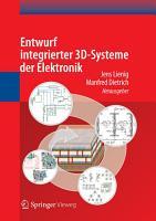 Entwurf integrierter 3D Systeme der Elektronik PDF
