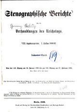 Verhandlungen des Reichstags: Band 119