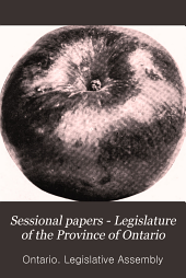 Sessional Papers - Legislature of the Province of Ontario: Volume 6