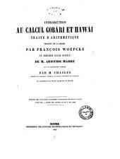Introduction au calcul Gobari et Hawai traite d'arithmetique traduit de l'arabe par Francois Woepcke