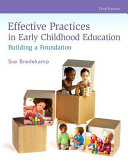 Effective Practices In Early Childhood Education Book PDF