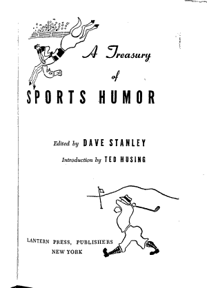 A Treasury of Sports Humor