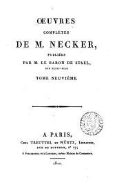 Œuvres complètes, publ. par le baron de Staël