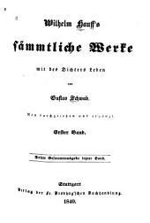 Wilhelm Hauff's sämmtliche werke: Band 1