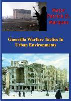 Guerrilla Warfare Tactics In Urban Environments PDF