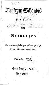 Tristram Schandis Leben und Meynungen...