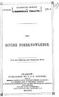 The Divine Foreknowledge PDF