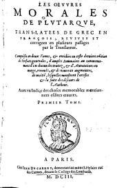 Les oevvres morales de Plvtarqve: Volume2