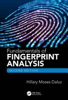Fundamentals of Fingerprint Analysis  Second Edition PDF