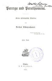Arthur Schopenhauer's Sämmtliche werke: -6. Parerga und paralipomena