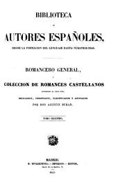 Romancero general, ó, Colección de romances castellanos anteriores al siglo XVIII: Volumen 2