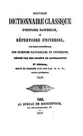 Nouveau dictionnaire classique d'histoire naturelle; ou, Répertoire universel des sciences naturelles et physiques: Volume44