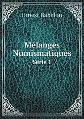 M?langes Numismatiques