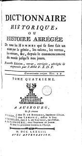 Dictionnaire historique: Volume 4