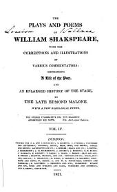 The Plays and Poems of William Shakspeare: Volume 4