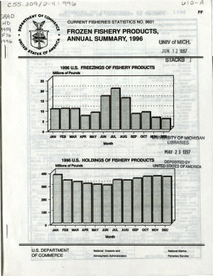 Frozen Fishery Products  Annual Summary
