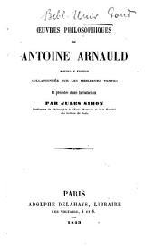 Œuvres philosophiques de Antoine Arnauld