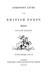 Johnson's Lives of the British Poets: Volume 1