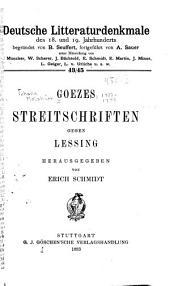 Goezes streitschriften gegen Lessing: Ausgaben 43-45