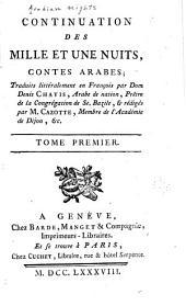 Continuation des Mille et une nuits: contes arabes, Volume1
