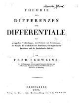 Theorie der Differenzen und Differentiale der gedoppelten Verbindungen: der Producte mit Versetzungen, der Reihen, der Wiederholenden, Functionen, der allgemeinsten Facultäten und der fortlaufenden Brüche