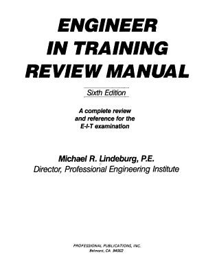 Engineer in Training Review Manual PDF