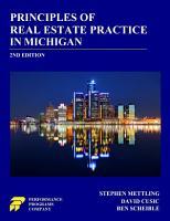 Principles of Real Estate Practice in Michigan PDF
