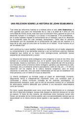 UNA RELEXION SOBRE LA HISTORIA DE JOHN SSABUNNYA